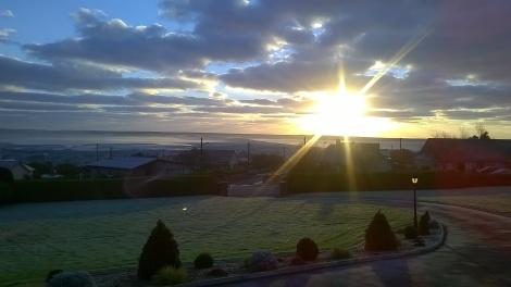 Dawn in winter from my front doorstep overlooking Tramore